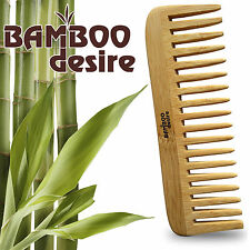 100% Natural Bamboo Wood Eco Friendly Detangling Healthy Hair Brush Comb