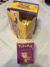 ONE POKEMON RARE VINTAGE PIKACHU MEWTWO DECK BOX BY WIZARDS 1999 NEW SEALED
