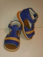 BABY Jungen Kinder Schuhe SANDALEN MADE IN ITALY Gr. 19 Blau Streifen LEDER NEU