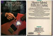"HEAVY METAL ""Riffs For Guitar"" (PARTITIONS / SHEET MUSIC) 1985"
