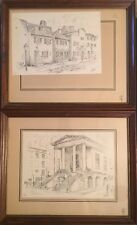 Picture Pencil Line Drawing Signed by Adrian R. Cooks Framed
