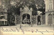 Nancy Lothringen AK 1902 Fontaine d`Amphitrite Kind Child gelaufen nach Schönau