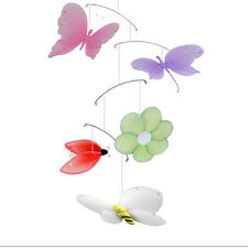 Butterfly Dragonfly Ladybug Bee Flower Jewel Mobile Ceiling Room Nursery Decor