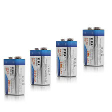 4x EBL 280mAh 9V 9 Volt 6F22 Ni-MH High Volume Rechargeable Battery