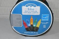 Holiday Time Christmas Lights Led Multi-colored Lights 500-count