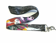 The Nightmare Before Christmas Jack and Sally phone strap lanyard black and pink