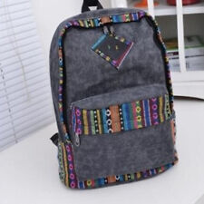 Womens Ethnic Brief Canvas Backpack Preppy School Girls Student Mochila Bags
