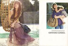 Publicité 2008 (double page) GERARD DAREL Charlotte Gainsbourg sac à main mode