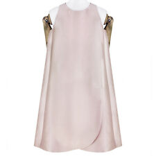 Stella McCartney Pale Champagne Pink Apron Mini Dress IT42 UK10