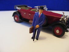 City Gent with Bowler, Case and Umbrella - 1:43  White Metal Model