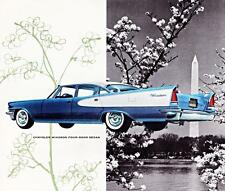Old Print. Blue/White 1957 Chrysler Windsor 4-Door Sedan Auto Ad