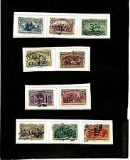 USA SC#230-9 1893 COLUMBIAN EXPO USED STAMPS HVALUE S-2443