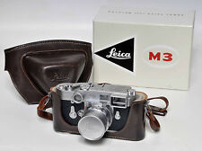 LEICA M3 - 902318 (DOUBLE STROKE), 50mm SUMMICRON DR LENS #1533359, CASE & BOX!