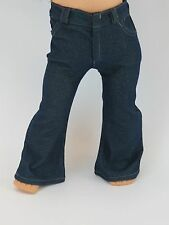 "Boot Cut Jeans in Dk Denim - Sized For American Girl® (BOY) & Other 18"" dolls"