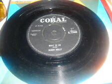buddy holly  what to do/ UMM OH YEAH uk coral  label vinyl 45  1963 Q72469 EX