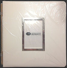Creative Memories 12x12 Scrapbook Album White Window Leather Frame NIP NEW