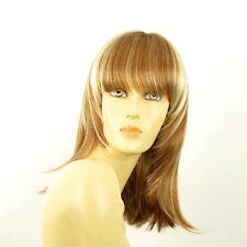 Perruque femme mi-longue blond foncé méché blond clair BABETTE F27613