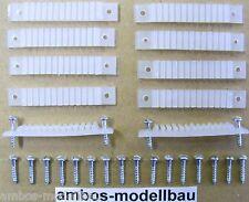 10 Stück Litzenhalter / Kabelhalter für 12 Kabel 0,14 mm² mit 20 Stück Schrauben
