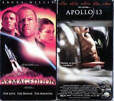Armageddon (VHS, 1998) & Apollo 13 - 2 Action VHS Tapes
