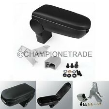 Black Leather Center Console Armrest For 99-04 VW Jetta Bora Golf MK4 R32 GTI CT