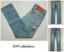 Mens Levi's 511 Slim Fit Low Rise Jeans, Light Faded Stretch Size 33 x 34