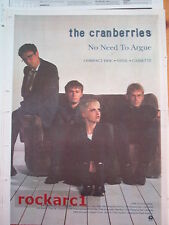 CRANBERRIES No Need To Argue 1994 UK Poster size Press ADVERT 16x12 inches
