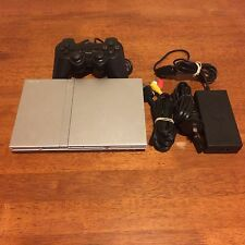 Sony Playstation 2 PS2 Slim Console(silver) + Controller + Leads