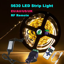 Dimmable 5M 5630 SMD 300 LED Strip Light Full Kit+ RF Dimmer+ Power Supply +DC