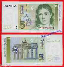 ALEMANIA GERMANY FEDERAL REPUBLIC 5 Mark marcos 1991 Pick 37  SC / UNC
