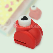 New Heart Paper Craft Stamp Hole Punch Scrapbook Tag Handmade Craft Small Size