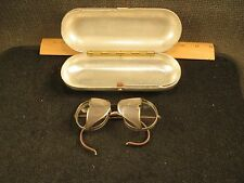 Vintage AO American Optical Safety Glasses Mesh Side Shields w/ Aluminum Case