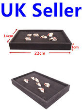 Ring Velvet Jewellery Display Box Cufflinks Storage Tray Case Holder Organizer