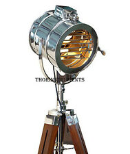 HOLLYWOOD STUDIO WOODEN STAND THEATER INDUSTRIAL SPOTLIGHT STAGE LAMP LIGHT TRI