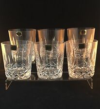 6 Cavan Of Ireland Innisfree Cut Crystal Whisky Tumblers 1st Signed Boxed 3 5/8""