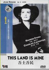 This Land is Mine DVD Charles Laughton Maureen O'Hara NEW R0 B&W 1943