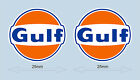 """GULF LOGO STICKERS 25 mm 1"""" WIDE DECAL - OFFICIAL LICENSED GULF MERCHANDISE"""