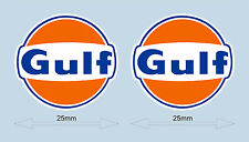 "GULF LOGO STICKERS 25 mm 1"" WIDE DECAL  - OFFICIAL LICENSED GULF MERCHANDISE"