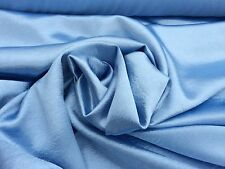 """Dusty Blue Crepe Back Stretch Satin Fabric 52"""" Wide Sold By The Yard"""