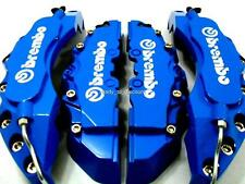 BIG LIGHT BLUE BREMBO STYLE BRAKE CALIPER COVERS KIT 4PCS FRONT/REAR