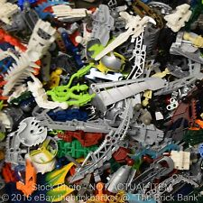 LEGO 1/4lb BIONICLE/HERO FACTORY Bulk Pound Lot-SANITIZED-Masks Weapons Body Par