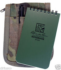 "Multicam ""Rite in the Rain"" 3""x5"" Tactical Green Notebook Kit with Cover & Pen"