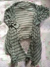 Gorgeous SANDWICH Ladies Stripy Waterfall Cardigan-size XL ( 14.) VGC