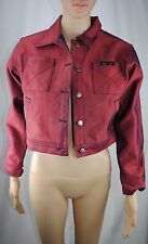 Baby Phat Red Croped Jean Jacket, Size-Large/Juniors