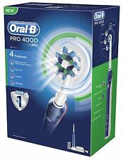 Braun Oral-b Pro 4000 crossaction 3d 4-mode Recargable Electric Power Diente