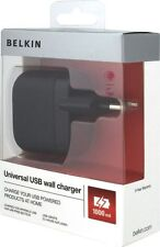 Pared Cargador Adaptador USB Universal Belkin EU 2 Pin iPhone 7 6S 6 5S 5 5C-Plus B