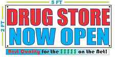 DRUG STORE NOW OPEN Banner Sign NEW Larger Size Best Quality for the $$$