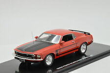 RARE !!!! Ford Mustang Boss 302 1969 HighWay 61 Red 1/43