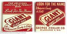 Chocolate Peanut Bar FRIDGE MAGNET Set (2 x 2 inches each) milwaukee WI candy