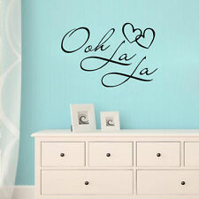 Wall Sticker Ooh La La Paris France Hearts Love Quote Vinyl Wall Decal Decor Art