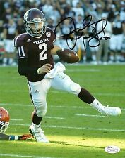 JOHNNY MANZIEL HAND SIGNED TEXAS A&M AGGIES 8X10 PHOTO W/ JSA COA